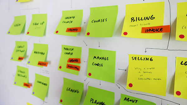 Photo of sticky notes with planning